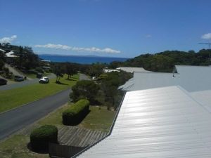The view from the whale watching tower atop the house we rented.