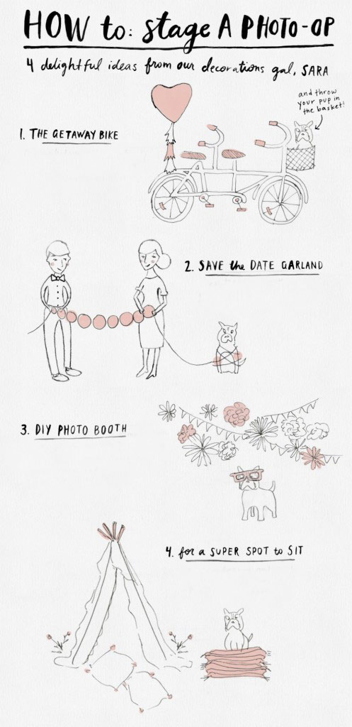 How to Make an Easy Wedding Photo Booth {INFOGRAPHIC}