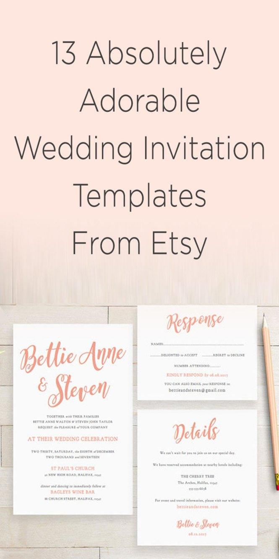 Diy Delicate Fl Wedding Invitation Suite