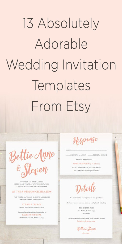 13 Etsy Wedding Invite Templates Weddingmix