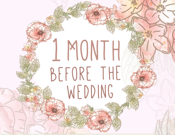 1 Month Wedding Planning Checklist for All Brides
