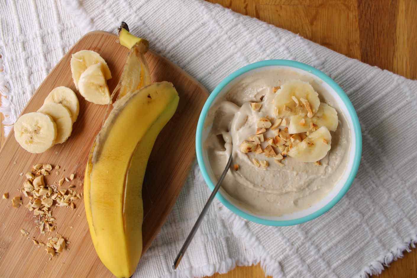 peanut butterbanana frozen yogurt recipe sugarfree or