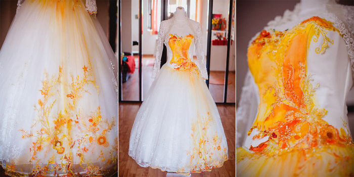 Dyed Wedding Gowns Are Just The Prettiest Thing For Any Woman On The Internet Today