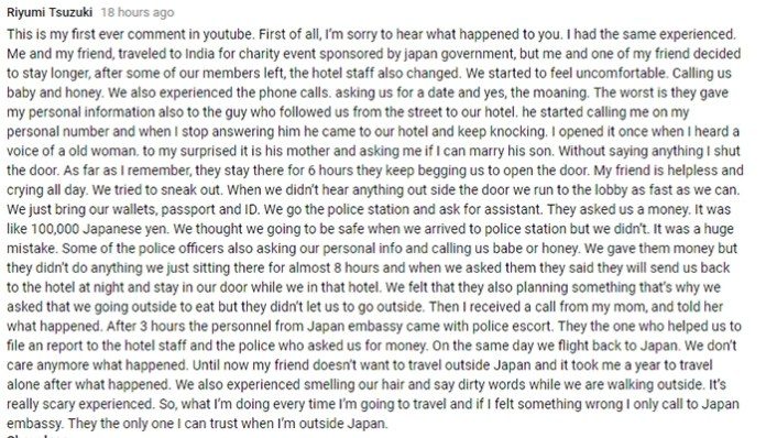 US Travel Vlogger Narrates Horrifying Story Of Sexual Assault she suffered in India(Comments)