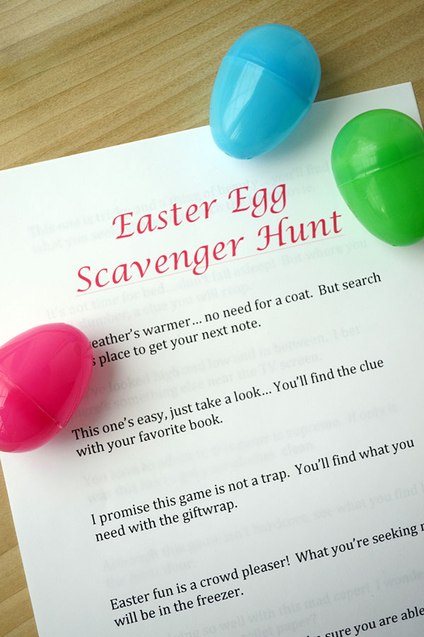 Easter Egg Scavenger Hunt Clues | Storypiece.net