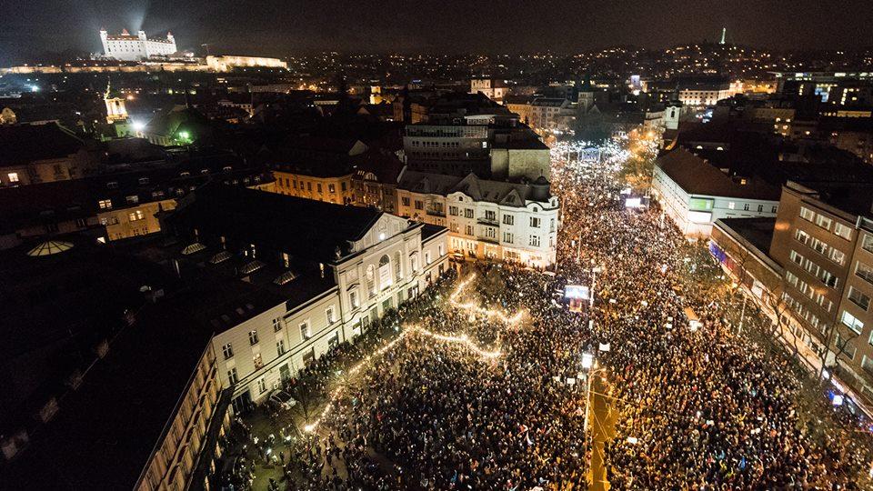 Zhromaždenie Za slušné Slovensko, Bratislava 2018 / Foto: Tomáš Halász