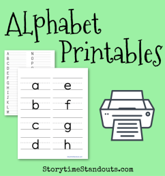 15 Awesome Printable Alphabets Plus Games for Teaching Letters [ 1200 x 1200 Pixel ]