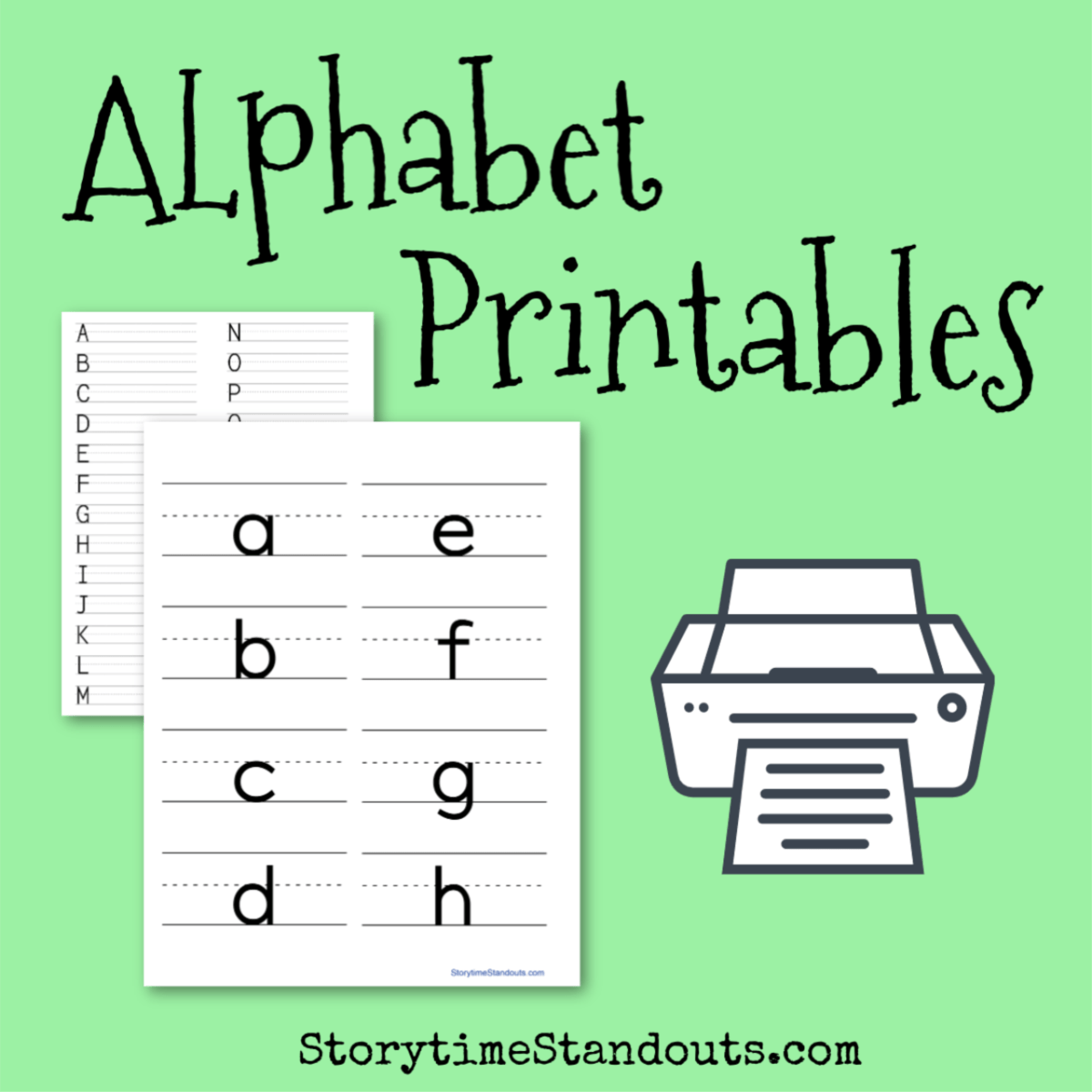 hight resolution of 15 Awesome Printable Alphabets Plus Games for Teaching Letters