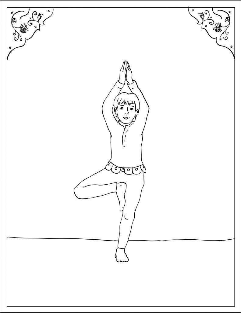 Storytime Yoga® for Kids Asana Coloring Page: Tree Pose