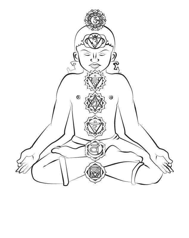 Storytime Yoga® for Kids Chakra Coloring Page