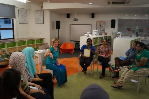 Teaching early childhood teachers in Australian International School, Kuala Lumpa.