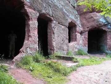 Empty cave houses Kinver Edge