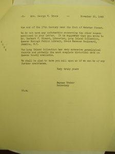 Flushing Historical Society Letter (Part 2)