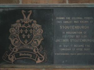 Hyde Park, NY Town Hall Stoutenburgh Plaque