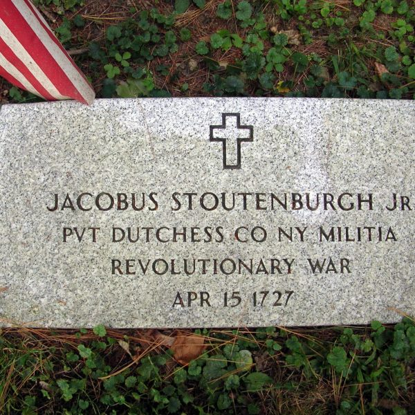 Jacobus Stoutenburgh, Jr., Private, Dutchess County, New York, Militia, Revolutionary War, April 15, 1727
