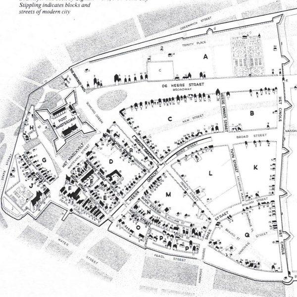 New Amsterdam Map 1600s