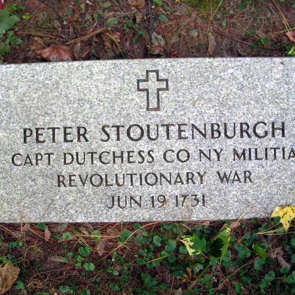 Peter Stoutenburgh, Captain, Dutchess County, New York, Militia, Revolutionary War, June 19, 1731