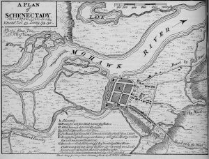 Plan of Schenectady about 1750
