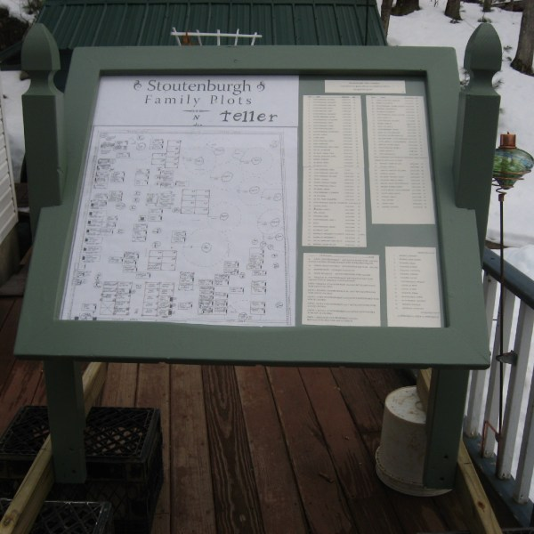 Stoutenburgh Family Cemetery Plot Map
