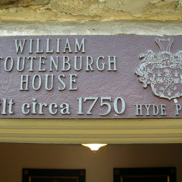 William Stoutenburgh Historic Homesite Plaque