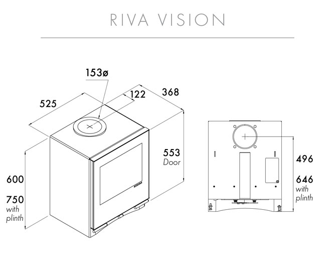 Riva Vision Medium Wood Burning Stoves & Multi-fuel Stoves