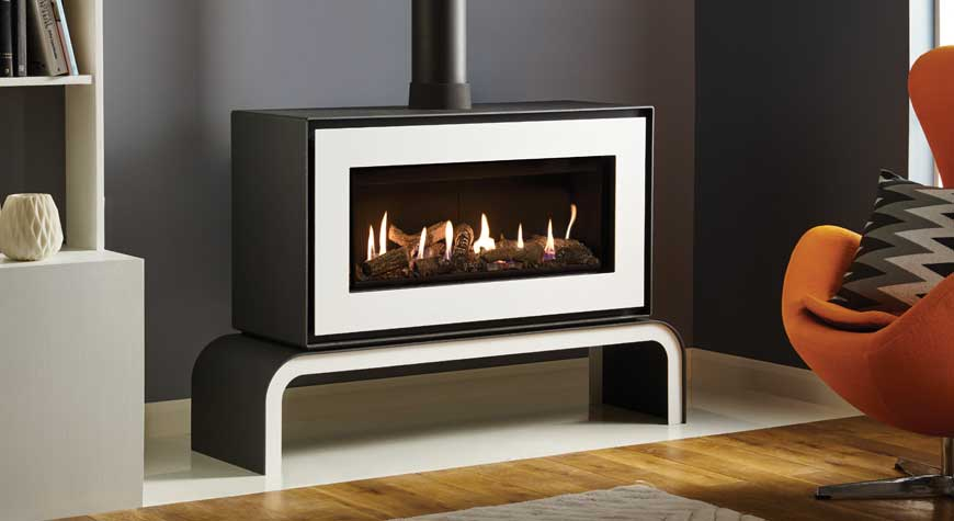Studio 2 Freestanding Gas Fires Gazco Contemporary