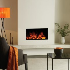 Pictures Of Living Rooms With Stone Fireplaces Black Leather Room Decor Studio Electric Inset 80, 105 & 150 Fires - Gazco