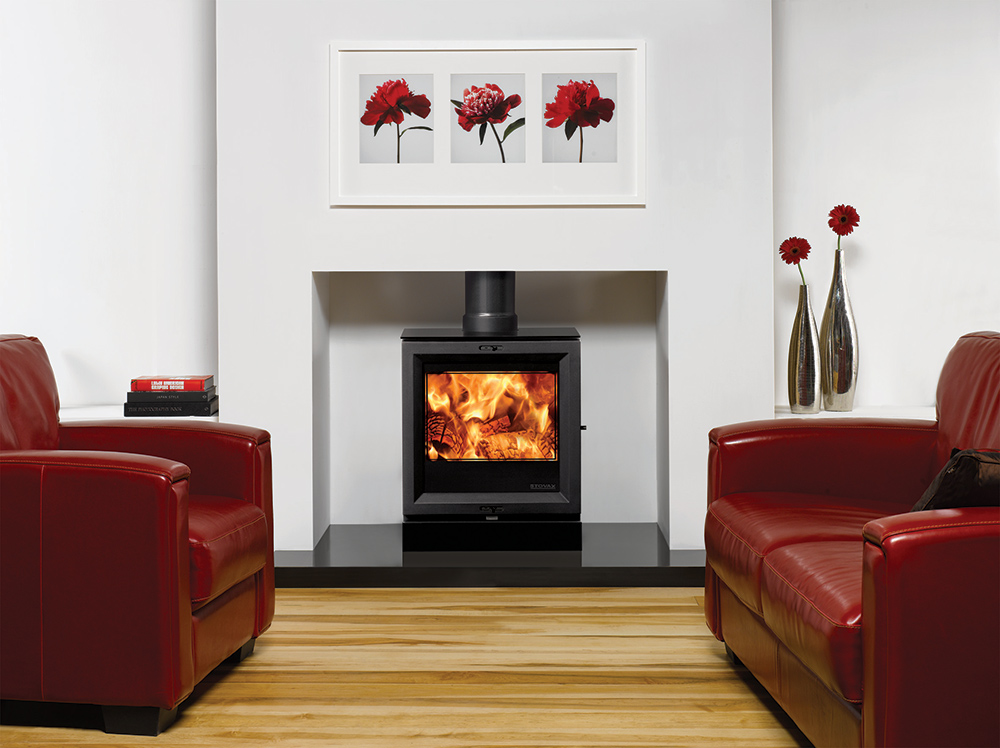 modern black living room painting your yellow view 5 wood burning stoves & multi-fuel - stovax
