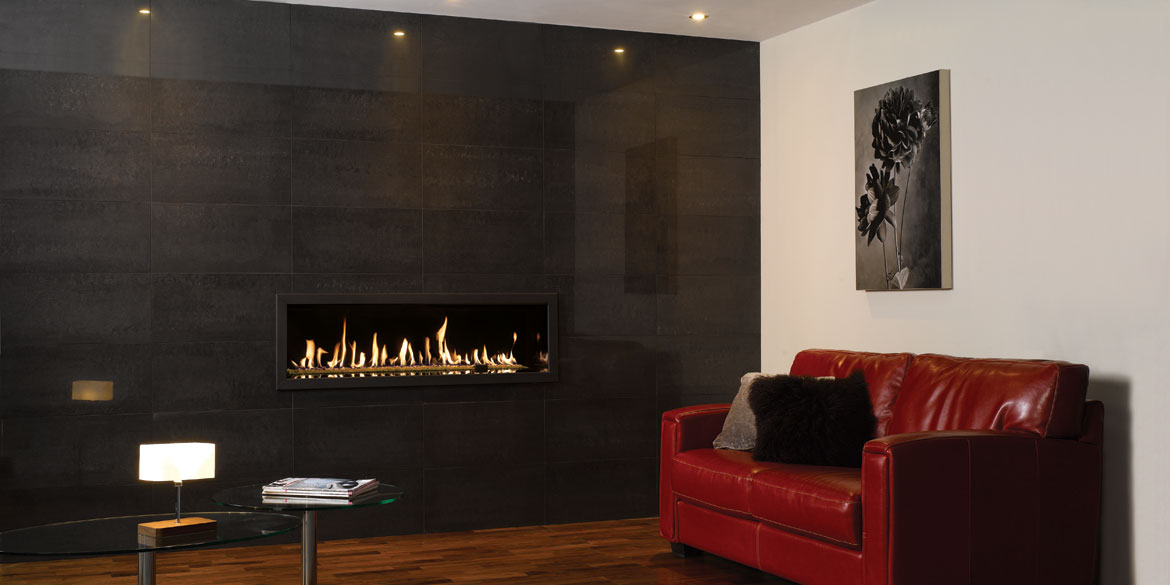 Turin Grigio Polished  Gazco Stovax Fireplace Tile Surrounds