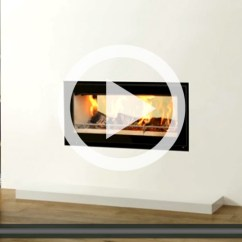 Images Of Living Rooms With Wood Burners Country Rug For Room Insert à Bois Studio™ 2 Duplex - Stovax & Gazco
