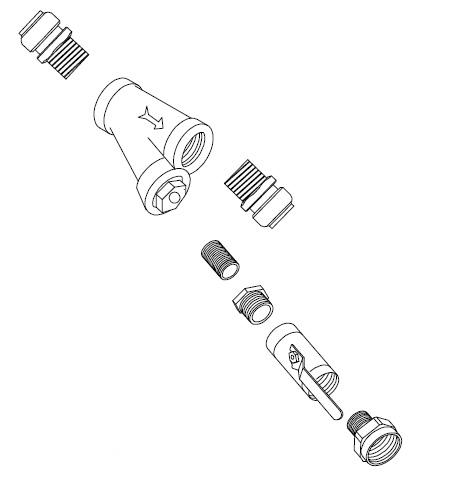SharkBite Inline Filter & Fill Valve Kit, Boiler Fittings