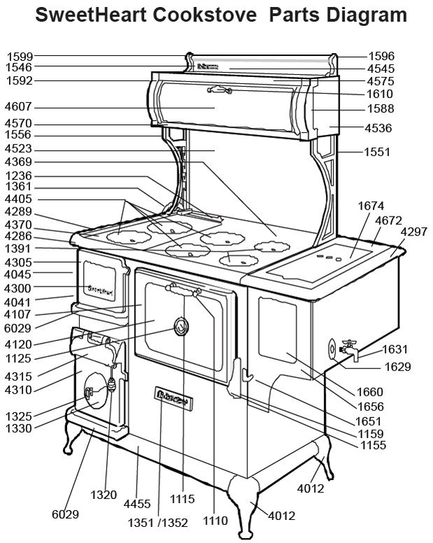 Buck Stove Parts Diagram