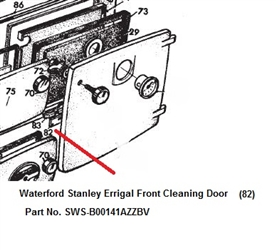 Replacement Front Cleaning Door Black Enamel for Waterford