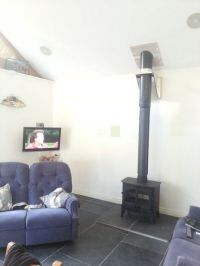 Installing a twin wall flue chimney for a wood burning ...