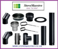 Stove flue pipes & fittings for wood burners 4 inch, 5 ...