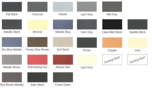 Click Here To View Our Colour Chart