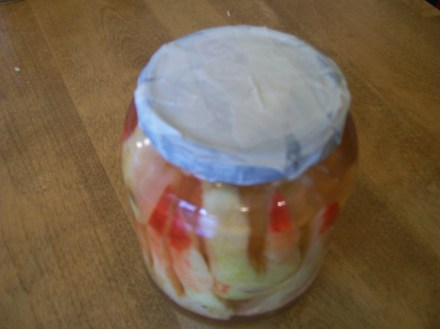Lid with masking tape