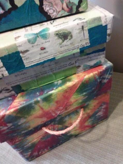 Tutorial on napkin decoupage keepsake box