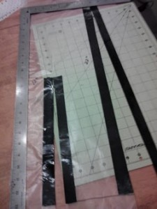 cut tape in half lengthwise