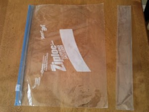 Cut ziplock bag