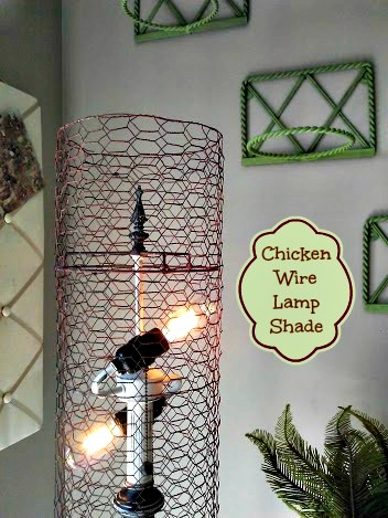 Diy chicken wire lamp shade stowtellu chicken wire lamp shade stowandtellu greentooth Images