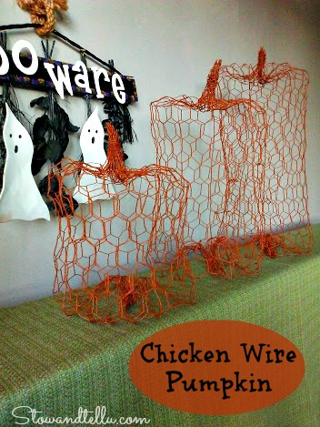 Chicken Wire Pumpkin - StowandTellU