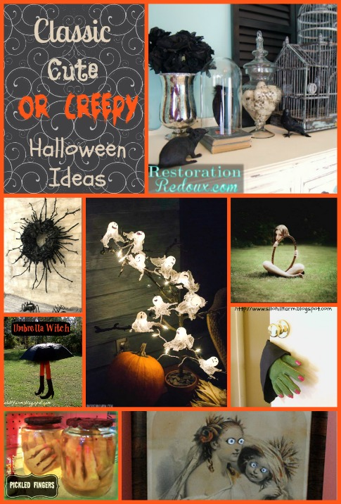 Classic Cute or Creepy Halloween Decor Ideas-StowandTellU