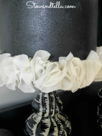 DIY Ruffle Trimmed Lamp Shades-StowandTellU