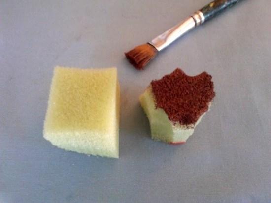 pouncing sponge and brush