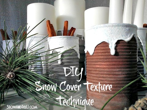 DIY Snow Covered Texture Texhnique-How to make your own Snow Texture-StowandTellU2