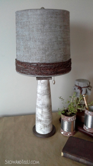 Grapevine wire wrapped lamp shade re-vamp - StowandTellU