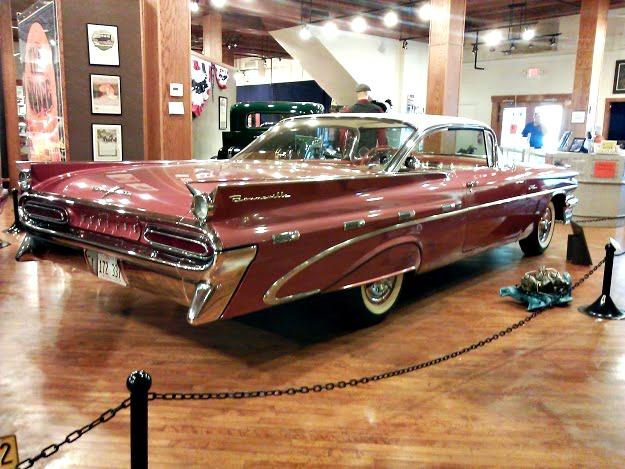 Route 66 - Pontiac Museum- pink bonneville