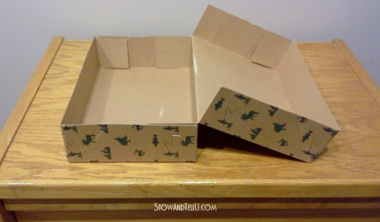 Turn a gift box into a storage box-StowandTellU