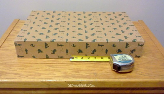 Turn a gift box into a storage box-StowandTellU5